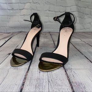 ALDO NWOB black and gold ankle strap stiletto pump